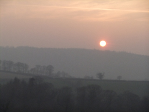 Spring sunset over the Tamar Valley
