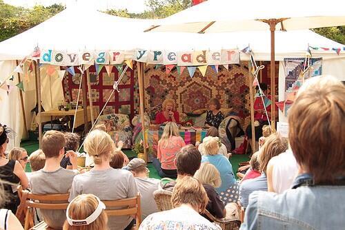 The dovegreyreader tent at Port Eliot Festival
