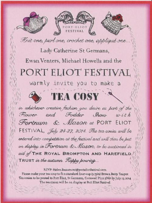 Port Eliot 14 Tea Cosy Competition