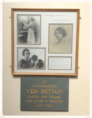 Vera Brittain plaque, Buxton