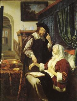 Frans van Mieris The Doctor's Visit