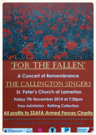 For the Fallen ~ Callington Singers