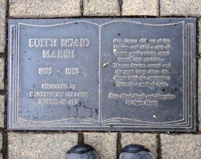 Ngaio Marsh ~ Plaque, Christchurch, New Zealand