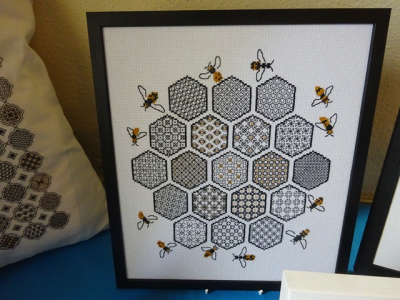 Blackwork Honeycomb