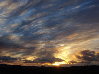 Nov 16 Turner sky in the Tamar Valley