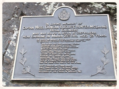 Captain Hunter's plaque