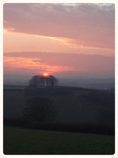 Shortest day sunset