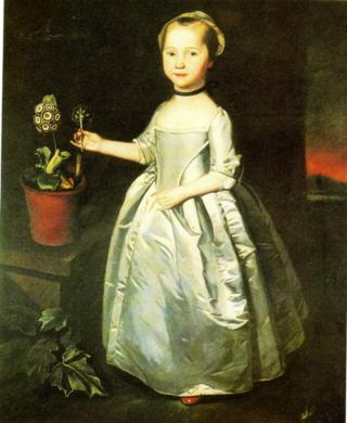 A Portrait of Martha Rhodes ~ C.Steele (1750)