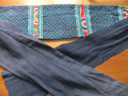Indigo sash