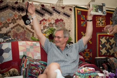 Spot the quilt...and Martin Parr