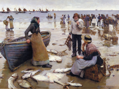 Fish Sale on a Cornish Beach ~ Stanhope Forbes