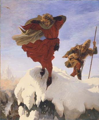 Manfred on the Jungfrau ~ Ford Madox Brown (1840-1861)
