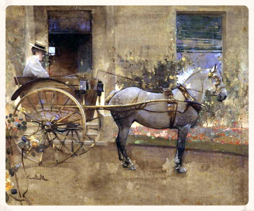 Joseph_Crawhall_-_The_Governess_Cart