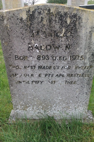 Monica Baldwin's grave, Clare, Suffolk