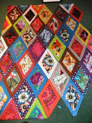 Kaffe Fassett diamonds...
