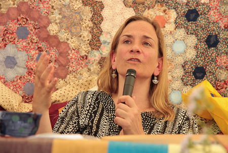 Tracy Chevalier at Port Eliot (copyright Tommy Hatwell)