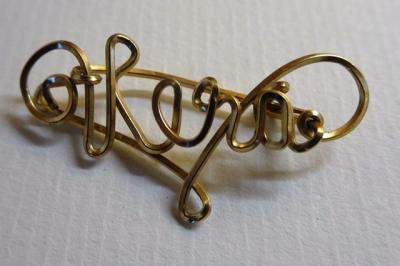 wire brooch ' Vera'