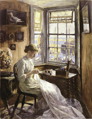 The Harbour Window ~ Stanhope Forbes