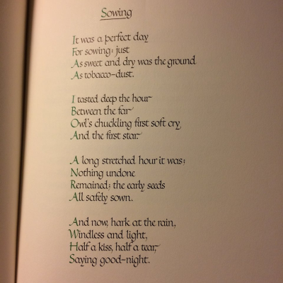 Sowing - Edward Thomas