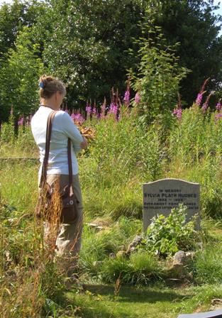 Sylvia Plath's grave, Heptonstall