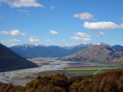 The view from Bealey Spur Track, South Island
