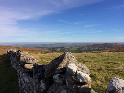 Dartmoor, the view en route to Grimspound