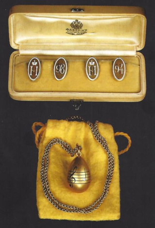 The two Romanov Fabergé pieces owned by Gibbes
