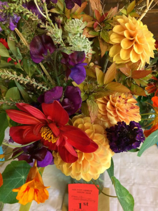 an arrangement of flowers