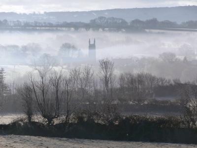Frosty village