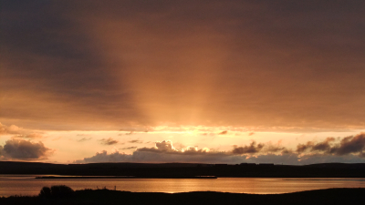 Sunset over Loch Harray