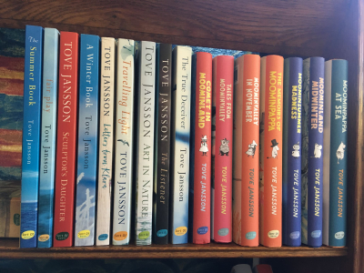 Tove Jansson shelf