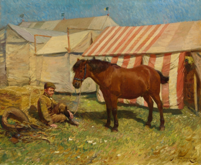 Boy With a Pony ~ Alfred Munnings (private collection)