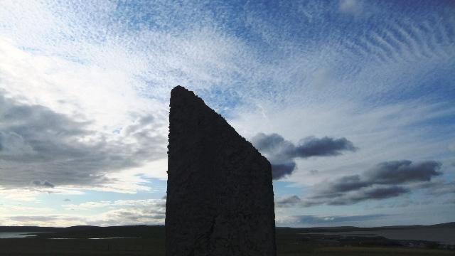 Orkney 2012 brodgar + stone + sky