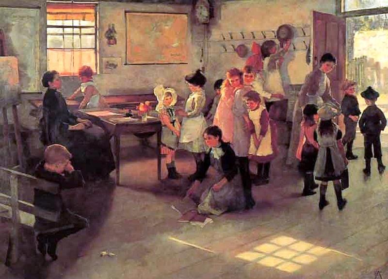 Elizabeth_Adela_Forbes_-_School_Is_Out_1889