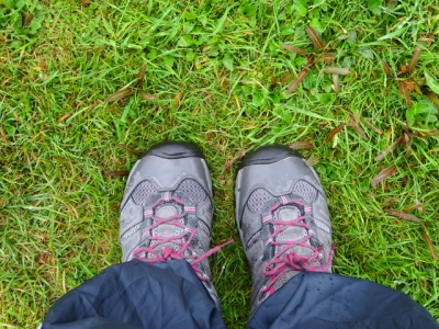 Standing on the gold fields at Lake Kaniere