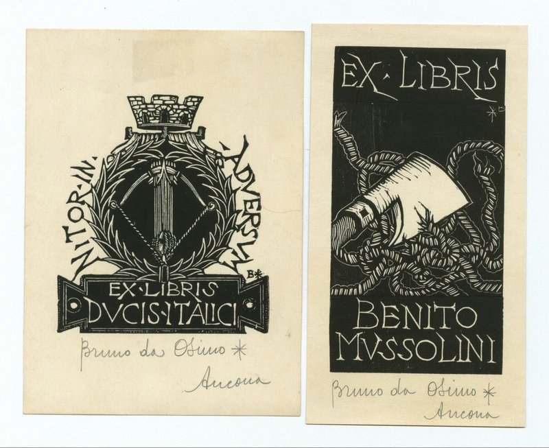 Bookplate_mussolini